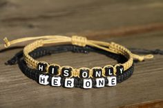 Couples Bracelets Set His and Hers Bracelets Her One His by LDnest, $15.99