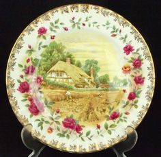 Royal Albert Old Country Roses Four Seasons AUTUMN Plate 1st Quality VGC