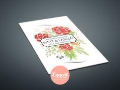 Klasszikus, virágos meghívó   Classic floral wedding card Floral Wedding Invitations, Wedding Invitation Cards, Wedding Invitations