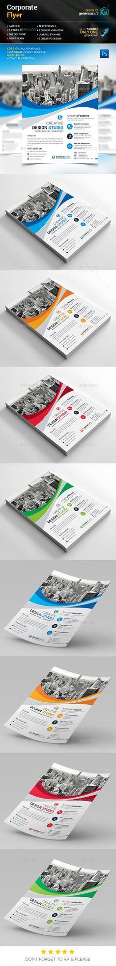 Business Flyer Template PSD #design #promote Download: http://graphicriver.net/item/business-flyer/13282982?ref=ksioks