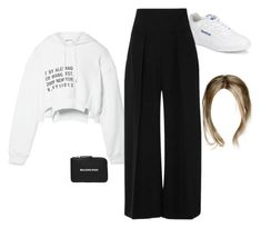 """Untitled #5190"" by stylistcookies ❤ liked on Polyvore featuring T By Alexander Wang, Reebok, Leal Daccarett and Balenciaga"