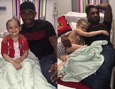 A Damn Fine Collection Of Fascinating SPORTS Photos And Videos   YoungSunderlandfan Bradley Lowery fell asleep cuddling Jermain Defoe as the club continue to support the cancer-stricken kid  Bradley 5 suffers from Neuroblastoma a rare form of cancer and has been cared for by his favourite team on a number of occasions this season.  And on Thursday a group of Sunderland players including Defoe Sebastian Larsson John OShea and Vito Mannone stopped by to see him in hospital and offer him a hug…