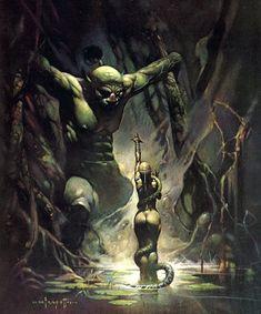 Details about swamp demon frank frazetta vintage art 1968 color plate gga fantasy snake devil Fantasy Rpg, Dark Fantasy Art, Fantasy Artwork, Demon Artwork, Frank Frazetta, Boris Vallejo, Image Comics, Most Famous Paintings, Face Paintings