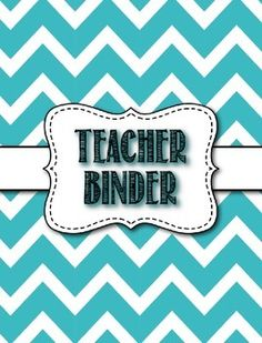 Editable Chevron teacher binder for high school and middle school teachers. I found that most binders being sold are geared towards elementary teachers, so I made my own geared toward secondary teachers. Teacher Sites, Teacher Tools, My Teacher, Teacher Stuff, Middle School Teachers, Elementary Teacher, High School, Teacher Binder Organization, Organization Ideas