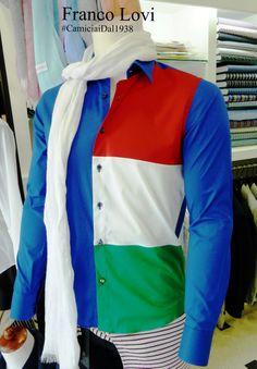 Coppa del Mondo FIFA 2014: Brasile Noi indossiamo la camicia Italiana by Franco Lovi!  FIFA World Cup 2014: Brazil We wear the Italian shirt by Franco Lovi!