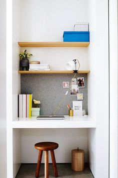 ideas home office nook ikea small spaces Computer Nook, Desk Nook, Office Nook, Corner Office, Ikea Small Spaces, Small Space Storage, Home Office Design, Home Office Decor, Home Decor