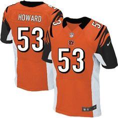 Nike NFL Cincinnati Bengals #53 Thomas Howard Elite Orange Alternate Jersey Sale