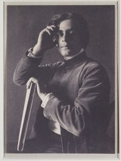 "Kahlil Gibran, platinum print by Fred Holland Day, 1897 ""When love beckons you, follow him"""