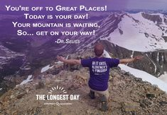 On the summer solstice, teams around the world will honor the strength, passion and endurance of those facing Alzheimer's. Start a team for this event! Alzheimers Quotes, Dementia Awareness, Long Day, Summer Solstice, A Team, Great Places, Helpful Hints, Poems, Around The Worlds