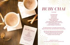 Healthier Holidays :: Ruby Chai with Prescribe Nutrition | Red Stamp
