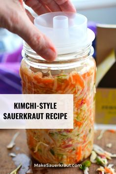 This Kimchi style sauerkraut recipe is fun to make with its many flavors. Korean red pepper powder (Gochugaru) adds heat with ginger and garlic in the background. Why I love this recipe? It connects me to cultures around the world where traditionally fermented foods are still a part of their everyday lifestyle. Available PDF recipe. #guthealth