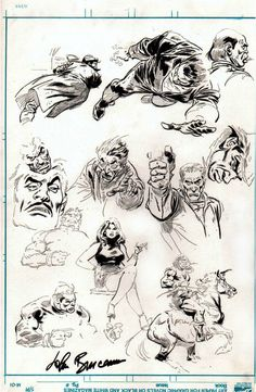 Warm up Sketches by John Buscema