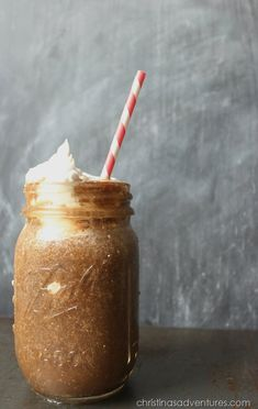 Banana Chia Coconut Iced Coffee with Maple Coconut Cream