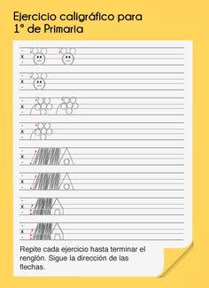Ejercicio caligráfico para 1º de primaria. www.eggz.com.mx
