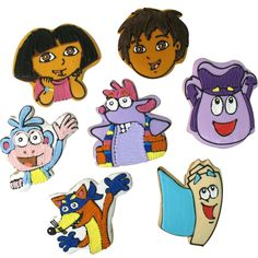 Dora The Explorer Favor Clever Cookie Characters