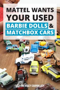 What do you do with old kids' toys? Rather than throw them away or drop them off at a thrift store (where they also may be thrown away), Mattel wants you to send the toys to them. The toymakers have introduced a new recycling program called Mattel PlayBack, which gives old toys new life. (Toy Story 5 plot, anyone?) The Krazy Coupon Lady shares what you need to know, like Mattel PlayBack accepts Barbie, Matchbox, and Mega toys for their toys reuse and recycle program. Coupon Lady, Matchbox Cars, Recycling Programs, Movie Tickets, Old Toys, Want You, Household Tips, Toy Story, Reuse