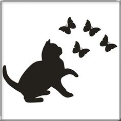 1000 images about silhouette on pinterest papillons google and search - Silhouette papillon imprimer ...