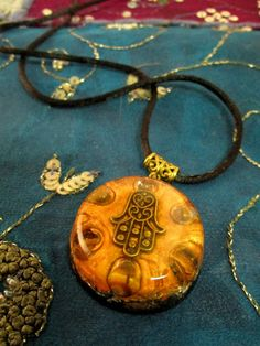 Tiger's Eye Orgonite Pendant - SMALL - EMF Protection and Positive Energy Emitter - Spiritual Gift