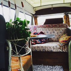 Our  vw campervan interior