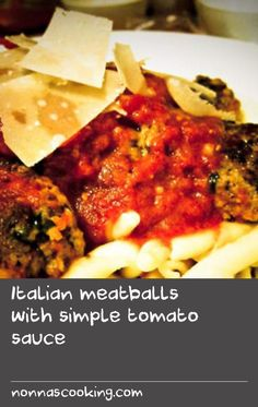 Italian meatballs with simple tomato sauce | Ok, I'm sure many Italians would argue that these aren't the best meatballs ever. You're going to tell me that the ones your nonna makes are a million times better. Well, this time I'm putting my foot down. I can honestly say that I have never eaten meatballs as good as these and if you have a better recipe, I would love to hear from you and I promise I'll give it a go to compare.   This recipe is really very easy - it doesn't take hours of…