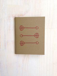 Medium Notebook Arrows Red Geometric Cute by ordinaryartists, $6.00