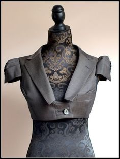 Upcycled bolero from Men's suit
