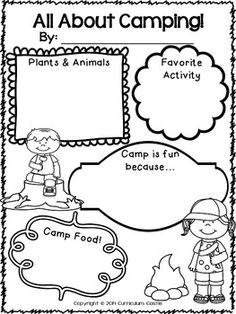 Camping: Camp Out in Class Thematic Unit! Great for end if the year activities or camp themed classroom! $