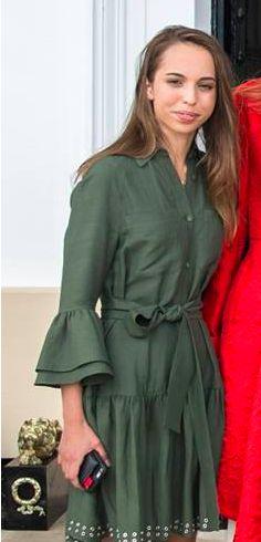 Princesse Salma, 12 aout 2017, Remise du diplôme de l'académie militaire de Sandhurstle à son frère le prince héritier Hussein, Sandhurst (Angleterre)