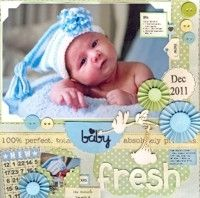 Baby Fresh Baby Scrapbook, Scrapbooking Layouts, Babies, Fresh, Kids, Crafts, Design, Young Children, Babys