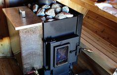 Kuuma Wood Burning Sauna Stove with Optional H20 Tank. Need extension for external feed