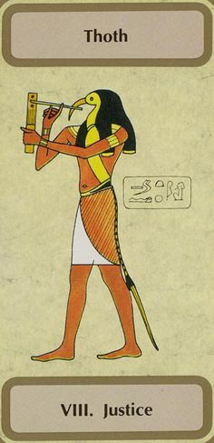 VIII. Justice (Thoth) - Tarot of Transition by Unknown