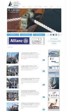 Creamos la Web con un sistema sencillo en Wordpress, totalmente diseñado a medida para el cliente, logotipo, banners y textos totalmente retocados por nosotros. Visita nuestra web http://salonnauticodenia.com/