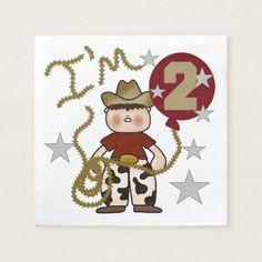 Cowboy 2nd Birthday Paper Napkins