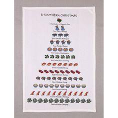 The Holiday Aisle® A Southern Christmas Tea Towel | Wayfair Southern Christmas, Christmas Open House, Christmas Tea, Cowboy Christmas, Vintage Christmas, Tea Towels, Dish Towels, David Price, Christmas Decorations