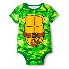Newborn Boys' Teenage Mutant Ninja Turtles Bodysuit - Green