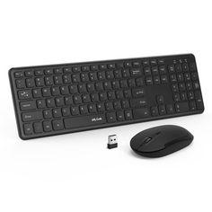 Laptops BK Wireless MINI Keyboard and Mouse for Windows 7 /& 8 Desktop PC
