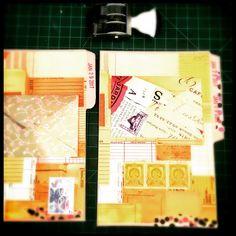 More book pages  #alteredbook #ephemera #postagestamps #cutandpaste #postagestamp #collage
