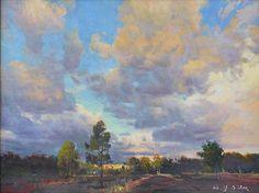 "SAN GABRIEL CLOUDS by W Jason Situ Oil ~ 16"" x 20"""