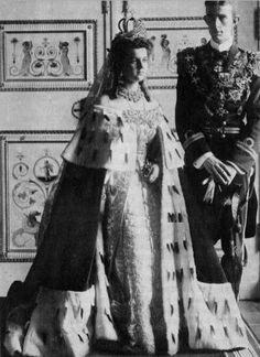 Grand Duchess Elena Vladimirovna and Prince Nicholas of Greece- 29 august 1902