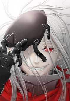 Wonderful painting of Shiro from Deadman Wonderland.