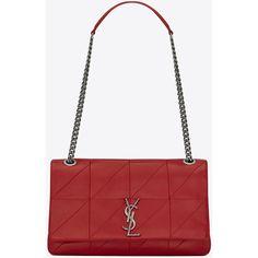 Saint Laurent Medium Jamie Bag ($2,545) ❤ liked on Polyvore featuring bags, handbags, shoulder bags, flap purse, snap purse, chain shoulder bag, snap closure purse and white shoulder bag
