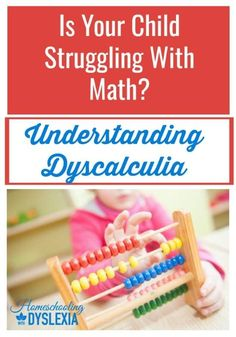 As in dyslexia, dyscalculia manifests differently in different kids.Some kids have trouble making sense of numbers and math concepts. Other kids with dyscalculia can't grasp basic number concepts. Let's work on understanding dyscalculia. Fun Math, Math Games, Math 8, Math Work, Math Activities, Math Skills, Math Lessons, Teaching Reading, Teaching Math