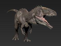 Giganotosaurus (Medium / Large size) in White Strong & Flexible: Medium