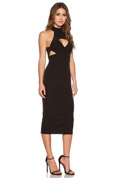 Shona Joy The Modernists Midi Dress in Black