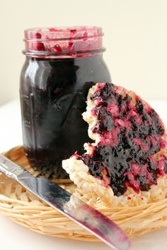 Homemade lemon blueberry jam....fresh blueberries, lemon jello, sugar & pectin!
