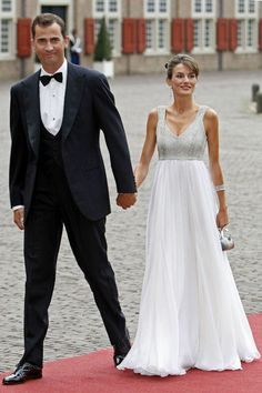 Prince Felipe and Princess Letizia of Spain attend the 40th birthday of Crown PRince Willem-Alexander of the Netherlands