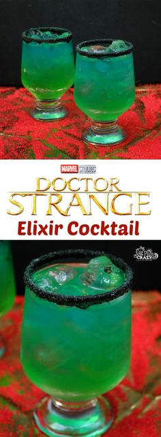 With Dr. Strange available on DVD today, what better opportunity to have a Dr. Strange Elixir Cocktail recipe than while you are watching it! Cocktail Shots, Champagne Cocktail, Rum Cocktail Recipes, Liquor Drinks, Alcoholic Drinks, Beverages, Doctor Strange, Alcohol Drink Recipes, Summer Cocktails