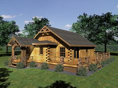 The Legacy Collection of Floor Plans features award winning log homes, log cabins and timber frame homes designed by Honest Abe's design department.