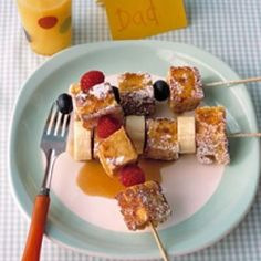 French toast kabobs, breakfast