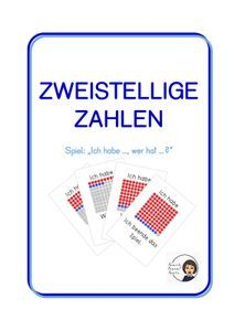 Zweistellige Zahlen - Ich habe ..., wer hat ...? – Unterrichtsmaterial im Fach Mathematik Games, Philosophy, Agriculture Farming, School Social Work, Home Economics, Multiplication Tables, Physical Science, Game Cards, Computer Science